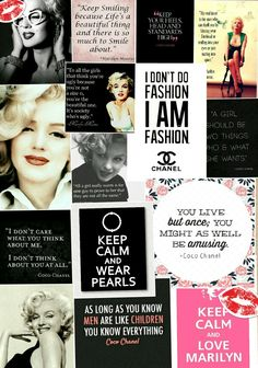 My awesome marilyn monroe and coco chanel wallpaper i made on pic collage!!!!!
