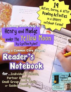A Reader's Notebook to go along with Henry & Mudge under the Yellow Moon (an autumn setting).