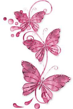 mariposas rosas png - Buscar con Google