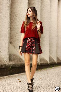 FashionCoolture - 17.03.2015 look du jour Moikana inverno animal print burgundy (1)