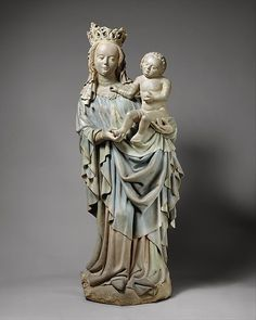 Virgin and Child Date: ca. 1425–30 Geography: Made in Nuremberg Culture: German Medium: Sandstone, polychromy