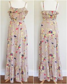 Monsoon-Delano-Floral-Print-Frill-Silky-Maxi-Summer-Dress-Wedding-Festival-UK-8 Festival Wedding, Monsoon, Dress Wedding, No Frills, Floral Prints, Dress Up, Bridesmaid, Prom, Summer Dresses