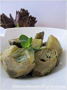 artichokes and potatoes