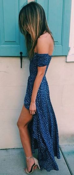 #summer #fashion / polka dot dress