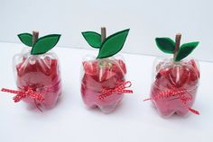 """Rosh Hashana craft - also a great way to make """"apples"""" for the dramatic play area"""