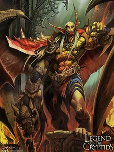 Artist: Mauricio Herrera aka el grimlock - Title: vampire king 2 - Card: Dan, Nahkhiir Wanderer (Self) Card Game, Beast Creature, Sketch Painting, High Fantasy, Fantasy Warrior, Fantasy Artwork, Sci Fi Art, Conceptual Art, Fantasy Characters