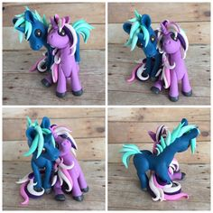 Unicorn Couple by DragonsAndBeasties on Etsy