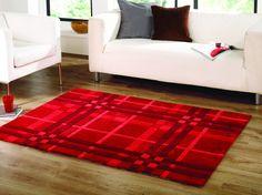 Tapis FUNKY WEAVE 120x170 Coloris Rouge au meilleur prix ! - LeKingStore