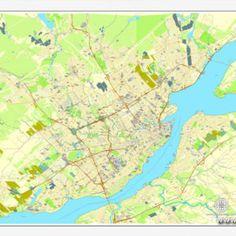 Harrisburg printable map pennsylvania us printable vector street pdf map quebec canada printable vector street city plan map full editable sciox Gallery