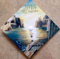 Graduation hairstyles · painted my graduation cap! Graduation Cap Designs, Graduation Cap Decoration, Graduation Caps, Grad Cap, College Graduation, Cap College, College Room, Graduation Hairstyles, Cap Decorations