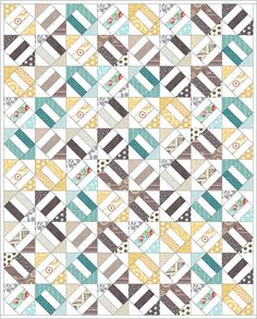 Cracker Scraps FREE TUTORIAL by Angela Pingel of Cut To Pieces. The only tricky part is cutting the odd-shaped strips, but if you put some tape on your ruler it'll be easy to keep finding the correct tick marks each time you cut a new strip.