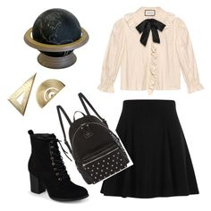 """""""First day at school 🤓"""" by fhufyky on Polyvore featuring Gucci, River Island, Journee Collection and GUESS"""
