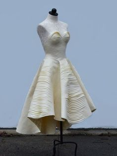 Masking tape dress: find out how she did it at http://www.burdastyle.com/blog/meet-the-designer-esther-boller-wins-award-for-masking-tape-dress