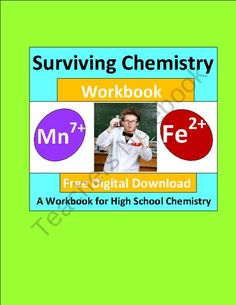 FREE Surviving Chemistry: A Workbook for High School Chemistry (free) product from E3Chemistry on TeachersNotebook.com