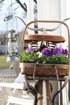 #frühling #Fahrrad #Blumen