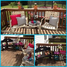 "My ""pinterest inspired"" deck re-do on a budget! ;)"