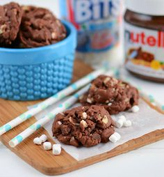rocky road Nutella pudding cookies