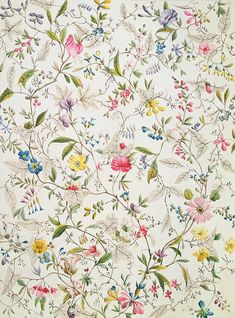 "vcrfl:  "" William Kilburn: Wild flowers design for silk material, 1790.  """