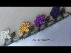 Fıstıklı Cıvıl Cıvıl Oya Modeli - YouTube Crochet Towel, Needle Lace, Crochet Clothes, Crochet Flowers, Butterfly, Model, Youtube, Create, Farmhouse Rugs