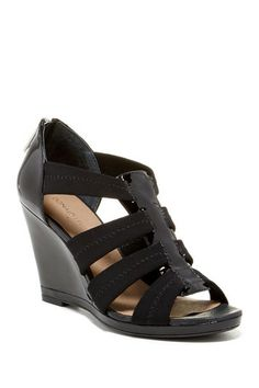 efff265759a0 Top Moda Womens Lacy Wedge Black -- Want to know more