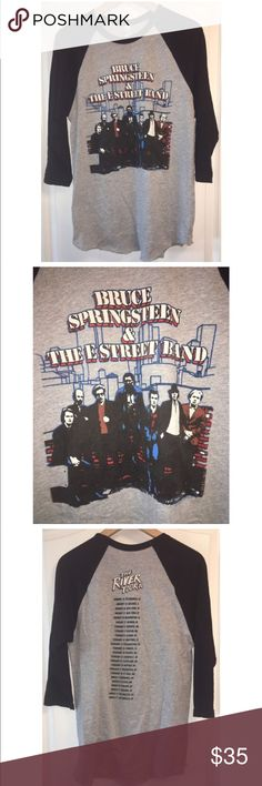 American Apparel Bruce Springsteen River Tour Tee Worn Once!    Size Medium!  Urban Outfitters X American Apparel Bruce Springsteen And The E Street Band The River Tour Exclusive Concert Tee!  Sold Exclusively At The Show This Tee Was Limited Edition!  Sold Out In All Stores And Online! American Apparel Tops