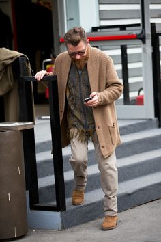 Cardigan boots beard hair old men chique tumblr Style