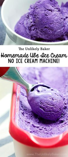 Homemade ube ice cream is bright, purple and bursting with delicious ube flavour. Bonus: you don't need an ice cream maker!