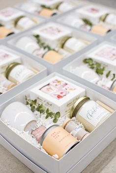 CUSTOM BE MY BRIDESMAID BOXES. Marigold & Grey creates artisan gifts for all occasions. Order online or inquire about custom gift design. www.marigoldgrey.com IMAGE: Lissa Ryan Photography
