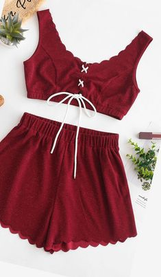 2019 ZAFUL Burgundy Summer outfit Occasion: Daily,Going Out Style: Fashion Fit Type: Regular Collar-line: Scoop Sleeves Length: Short Sleeves Material: Polyester,Polyurethane Elasticity: Elastic Waist Type: High Closure Type: Elastic Waist Lazy Outfits, Trendy Outfits, Girl Outfits, Fashion Outfits, Style Fashion, Cute Summer Dresses, Dresses For Teens, Outfits For Teens, Ropa Interior Babydoll