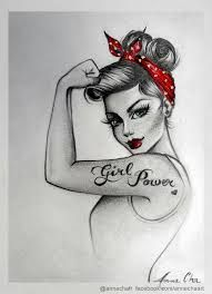 sailor jerry pin up drawing - Google Search