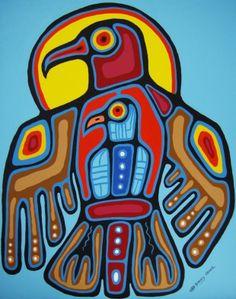 By artist Bluesky Crowe Inuit Kunst, Art Inuit, Arte Haida, Haida Art, Arte Tribal, Tribal Art, Kunst Der Aborigines, Navajo Art, Woodland Art