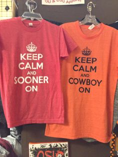 Keep Calm shirts $20