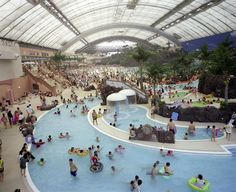 "The ""Ocean Dome"", the largest indoor water park in the world, is located in Miyazaki, Kyushu Island (Japan). The size is impressive. In fact, Ocean Dome is listed in the Guinness Book of World Records as the world's largest indoor water park, measuring 300 meters in length, 100 meters in width. And the temperature is 30 degrees Celsius year-round."