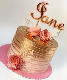 first birthday photo 50th Birthday Cake For Women, Birthday Cake For Women Elegant, Elegant Birthday Cakes, Beautiful Birthday Cakes, Gold Birthday Cake, Elegant Cakes, Beautiful Cakes, 14th Birthday, 7 Cake