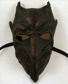 Leather Devil Demon Venetian Horror Mask #venetianmask #masks #gothicmask #gothmask #halloween #halloweenmask #costume #costumemask #horrormask #horror #devilmask #devil #demonmask #demon