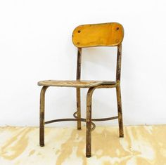 Vintage Child's School Chair by Apartment528 on Etsy, 65.00