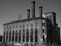 Ceci est une usine de 1887 en Angleterre,image en noir et blanc.