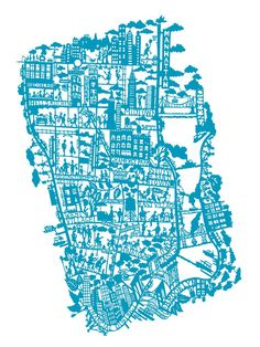 <3 NY!  New York Citymap Petroleum - Silketryk (50 x 70 cm) NEW her - Mimi´s Circus