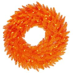 The gorgeous Vickerman Orange Fir Pre-lit Wreath makes a valuable addition to any holiday decor. The crisp round PVC wreath is pre-lit with orange mini. Pre Lit Wreath, Christmas Wreaths With Lights, Lighted Wreaths, Artificial Christmas Wreaths, Holiday Lights, Christmas Decorations, Christmas 24, Christmas Things, Christmas Items