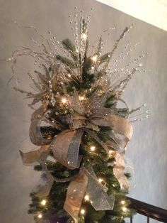 silver and gold tree topper christmas