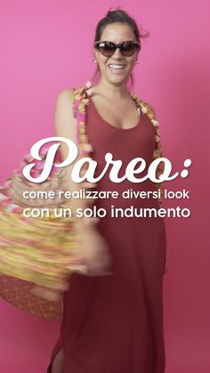 Pareo: how to make different looks with just one garment!- Pareo: come realizzare diversi look con un solo indumento! Find out how to wear the pareo differently! Diy Scarf, Needle And Thread, Sewing Hacks, Beachwear, What To Wear, Sarongs, Fashion Trends, Bandeaus, Beach Fashion
