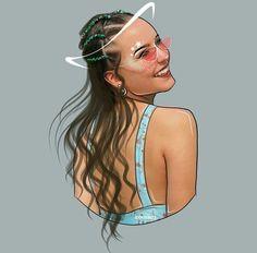 Girl Cartoon, Cartoon Art, Instagram Cartoon, Outline Art, Girly M, Black Artwork, Digital Art Girl, Best Iphone Wallpapers, Magic Art