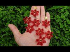► Cómo hacer PENDIENTES DE FLOR EN MOSTACILLA con aro 😍😍 - YouTube Seed Bead Earrings, Beaded Earrings, Seed Beads, Bead Jewellery, Paper Quilling, Arm Warmers, Handmade Jewelry, Creative, Flowers