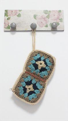 Crochet Clutch Purse with Granny Square by plezilla on Etsy, $25.00