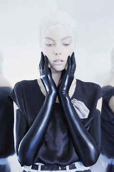"""Today's crush is on Lilia Yip Mirrormasque collection shots, really digging the clean but twisted styling. Loving especially the latex gloves, they remind me of an article I read on Vice last month """"Tuck it all there – FETISHIZING THE LATEX DREAM IN THE BRAZILIAN RAINFOREST: ittells the story of Willi Graber who, by …"""