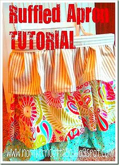 northern cottage ruffle apron tutorial