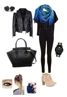 All black er'thing, blue accessories by kate-rose-ellery on Polyvore featuring polyvore, fashion, style, Athleta, Miss Selfridge, Cleo B, Movado, Cristina Sabaiduc, Essie and clothing