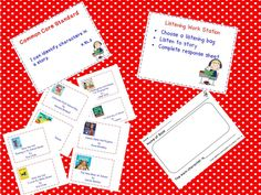 A Teacher's Touch: Literacy Work Stations Listening Feeebies