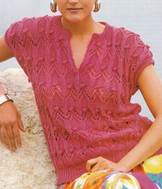 Vintage Knitting Pattern Instructions to Make a Ladies Short Sleeve Jumper Top | eBay