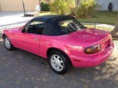 1993 pink Mazda MX-5 Miata http://www.iseecars.com pink cars, pink truck, pink SUV, pink convertible